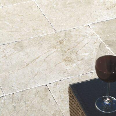 Terrassenplatten Pergamon Creme getrommelt